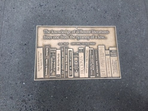 A plaque from Library Walk