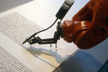 machine writing a book