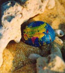 World in sand